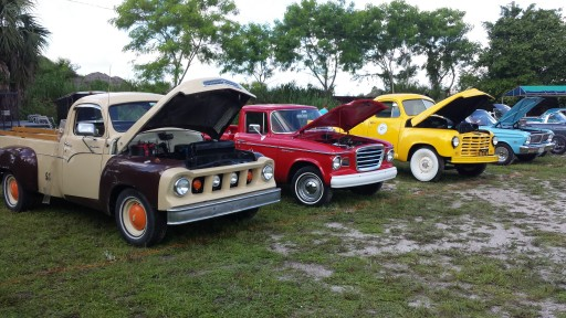 3 count them 3 Studebaker trucks out of 6 entries
